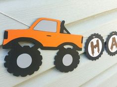 Monster truck birthday party banners 24 ideas for 2019 Diy Birthday Banner, Diy Banner, Birthday Party Decorations, Boy Birthday, Birthday Parties, Cake Birthday, Birthday Ideas, Happy Birthday, Monster Truck Birthday