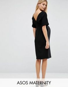 Shop ASOS Maternity Smart Woven midi dress With V Back. With a variety of delivery, payment and return options available, shopping with ASOS is easy and secure. Shop with ASOS today. Asos Maternity, Maternity Fashion, Maternity Dresses, Maternity Style, Robes Midi, Smart Dress, Pregnancy Outfits, Pregnancy Fashion, Black Velvet Dress