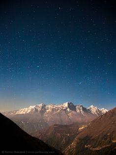 stars above the Himalayas