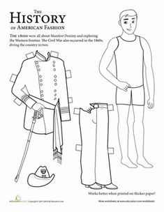 Second Grade History Paper Dolls Worksheets: History Paper Dolls: Civil War Soldiers