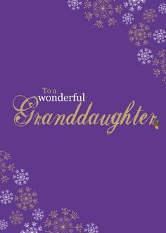 """HelloTurtle Christmas Cards """"Wonderful Granddaughter"""" personalised card Personalise and send this Christmas card to someone you care about. Same day despatch on orders received before (Mon-Fri) Personalised Christmas Cards, Custom Christmas Cards, Personalized Christmas Cards"""