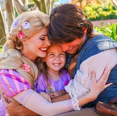 Lane as Rapunzel with Flynn Rider from Tangled | How Disney Princesses Have Helped This Shy Little Girl Is Magical