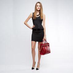 Gera peplum dress  Love the entire look