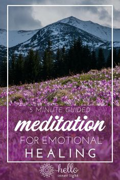 Accepting all of our emotions (even our negative feelings) is the biggest key to emotional healing! This simple guided meditation for emotional healing will quickly help you heal and accept your negative emotions! Meditation Mantra, Meditation For Anxiety, Meditation Benefits, Meditation For Beginners, Meditation Techniques, Daily Meditation, Healing Meditation, Meditation Practices, Meditation Music