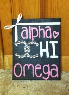 Chanel symbol Alpha Chi Omega canvas