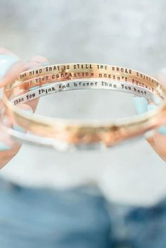 Stamped inside this bracelet lies your inspiration.