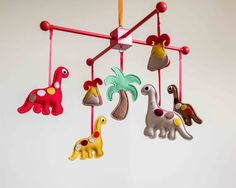 Dinosaur mobile / Baby Mobile / Cot mobile by MorrowlandCreations