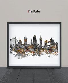 London Art Print Watercolor London art poster Art by iPrintPoster