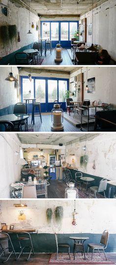 Best Home Decoration Stores Referral: 1908846556 Coffee Shop Design, Cafe Design, House Design, Deco Restaurant, Restaurant Design, Loft Interiors, Shop Interiors, Bar Interior, Interior And Exterior