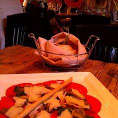 L'angolo Dei Carpacci at Zio Cecio. Award winning Chef Francesco also makes Fish, Seared Scallop, and Salmon Carpacci. It's kind of an Italian Sashimi of sorts.
