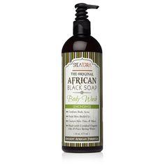 The Original African Black Soap Body Wash (Lemongrass)