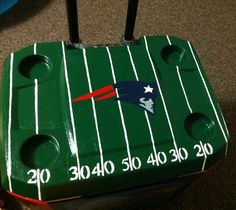 Top of cooler idea for football fans