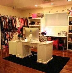 My dream closet! Can't forget lots of space for shoes!
