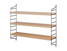 String Pocket Raw Metal Shelving