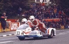 George OATES: 20 August 1977 - George Oates, a sidecar driver, and his passenger John Molyneux were killed during the 1977 Ulster Grand Prix. They crashed their Kawasaki sidecar at Tournagrough, on the Dundrod circuit. Racing Motorcycles, Isle Of Man, Super Bikes, Grand Prix, Motorbikes, Legends, Classic, Vehicles, Gq