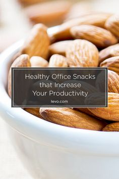 Try these healthy and delicious snacks at work instead of heading to the vending machine. www.levo.co #snacks #office