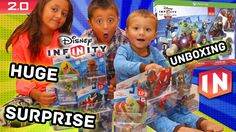 Disney Infinity 2.0 HUGE Surprise! All Day 1 Marvel Super Heroes Toys! U...