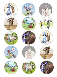 Regular Show edible cupcake toppers