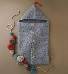 Crochet Patterns Sleeping Bag Ravelry: Baby sleeping bag pattern by Phildar Design Team Knitting For Kids, Baby Knitting Patterns, Crochet For Kids, Loom Knitting, Knitting Projects, Crochet Projects, Hand Knitting, Knit Crochet, Crochet Patterns