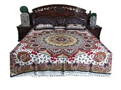 Boho Bedspread- Indian Bedding Mandala Cotton Bedcover 3p set Mogul Interior http://www.amazon.com/dp/B010VDEZQK/ref=cm_sw_r_pi_dp_zje5vb1FNKQHQ #bedding #bedspreads #cottonbedding
