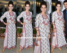 Kangana Ranaut Wears Vrisa - this look from the outfit, Kangana's grace, simple beauty look, accessories and that beautiful smile is perfection