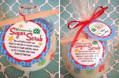 sugar scrub tags for christmas , printable