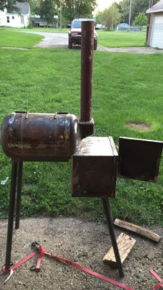 Reverse flow mini for camping and tailgating | Page 2 | Smoking Meat Forums - The Best Barbecue Discussion Forum On Earth! Smoker Designs, Smoking Meat, Tailgating, Flow, Camping, Good Things, Smokers, Mini, Barbecue
