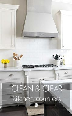 Clean & Clear Kitchen Counters- a happy medium between pretty and useful