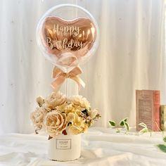 Birthday Balloon Decorations, Valentines Day Decorations, Birthday Balloons, Birthday Party Decorations, Valentines Balloons, Valentines Diy, Balloon Flowers, Balloon Bouquet, Flower Box Gift