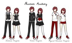 Phantom Academy Uniform by cookiestruck on DeviantArt School Uniform Outfits, School Outfits Highschool, Academy Uniforms, Anime Uniform, Boys Uniforms, Drawing Anime Clothes, Clothing Sketches, Anime Dress, Uniform Design