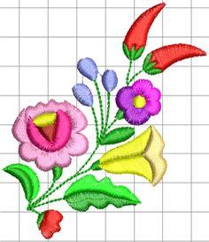 """Embroidery Hungarian Képtalálat a következőre: """"kalocsai minta"""" - Chain Stitch Embroidery, Tambour Embroidery, Learn Embroidery, Hand Embroidery Stitches, Embroidery Techniques, Shirt Embroidery, Machine Embroidery Designs, Embroidery Patterns, Polish Embroidery"""
