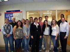 Jessica King visits the SGA meeting 10-12