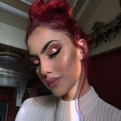 Get the best Beauty deals & trends here --> Makeup On Fleek, Cute Makeup, Glam Makeup, Makeup Inspo, Makeup Inspiration, Hair Makeup, Makeup Is Life, Makeup Goals, Makeup Tips