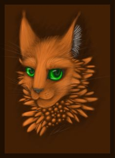 Firestar Headshot (Colour Practice) by TheAcrylicCat.deviantart.com on @DeviantArt