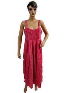 Boho Dress, Pink Hippie Dress, Bohemian Clothing, Gypsy Vintage Tank Dress for Womens Mogul Interior, http://www.amazon.com/gp/product/B007N11AGC/ref=cm_sw_r_pi_alp_Z48vqb122D7MS