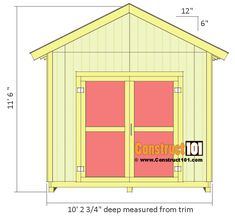 Awesome Wood Shed Plans Ideas Wood Shed Plans - This Awesome Wood Shed Plans Ideas photos was upload on November, 9 2019 by Jamarcus Weimann. Here latest Wood Shed Plan. Diy Storage Shed Plans, Small Shed Plans, 10x12 Shed Plans, Wood Shed Plans, Small Sheds, Shed Building Plans, Storage Sheds, Shed Plans 8x10, Barn Plans