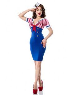 Robe Crayon Sailor Pin-Up Rockabilly Belsira Venus-Mode Rétro Vintage - La mode pour femmes retro, rockabilly, pin-up, glamour