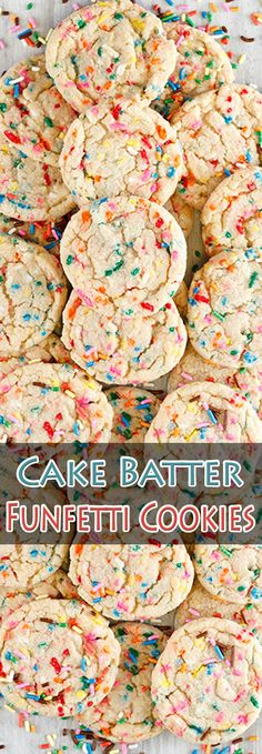 Cake Batter Funfetti Cookies. #CompleteRecipes #recipe #recipes #food #foodgasm #cleaneating #healthyfood #healthy #healthyrecipes #cake#cookies