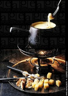 #Fondue Savoyarde, a typical #French dish that we generally have during winter with a good red wine glass- Perfect combination !