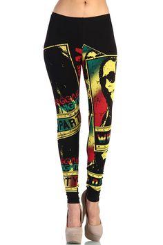 Bob Marley Reggae Nights Leggings - Black