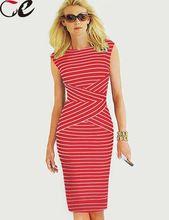 2015 New Sundress Striped Patchwork Sleeveless Casual Summer Dress Bodycon Sheath Elegant Dress Plus Size Women Clothing