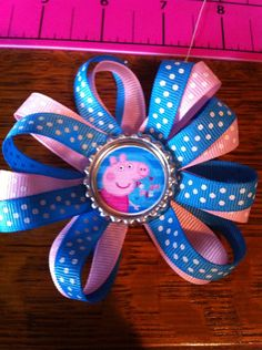 Peppa pig bow!!! on Etsy, $7.00