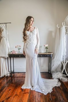 Jennifer Go Bridal - Ellery gown, silk tulle and French beaded lace