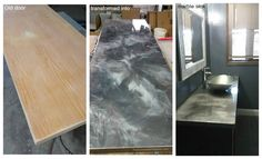 Unique Metallic Marble Projects with The Concrete Protector products #countertops #marble #transformation