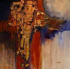 "CAROL NELSON FINE ART BLOG: Geologic Abstract Mixed Media Painting ""New World"" by Colorado Artist Carol Nelson"