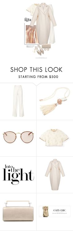 """""""Lumière Douce / Soft Light"""" by halfmoonrun ❤ liked on Polyvore featuring ADAM, Ray-Ban, Delpozo, Ruban and COSTUME NATIONAL"""