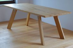 e760e7454656 Handmade solid wood dining table. Contemporary by Poppyworkspl Solid Wood  Dining Table