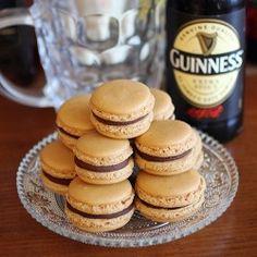 Pretzels and Irish stout macarons