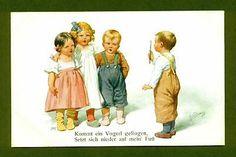 G7792 Postcard Boy Teaching Kids to Sing, Feiertag