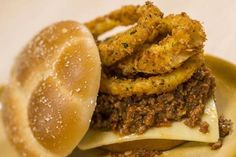 Sloppy Joes With Onion Rings recipe from Everything Pop at Pop Century Resort in Disney World